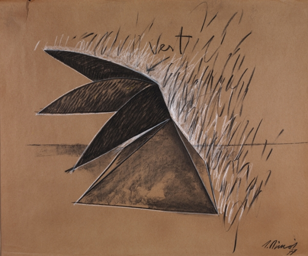 Sketch for Indian Pyramid, 1977